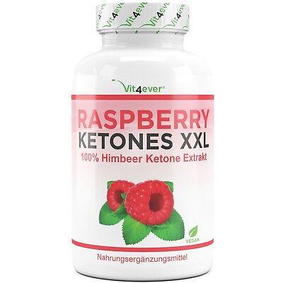 Raspberry Ketone XXL 250 Kapseln Hochdosiert (Vegan) Fatburner Diät Stoffwechsel