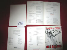 N°4968  / dépliant programme Casino de Paris PARISLINE Line Renaud / Brenot