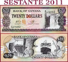 GUYANA  -  20 DOLLARS 2009  -  P  30e  -   FDS / UNC