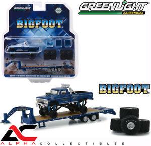 GREENLIGHT-30054-1-64-1974-FORD-F-250-BIGFOOT-1-MONSTER-TRUCK-GOOSENECK-TRAILER