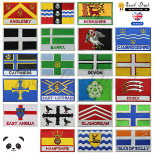 UK-County-Flags-Embroidered-Sew-Iron-On-Patch-Badge-For-Clothes-Etc