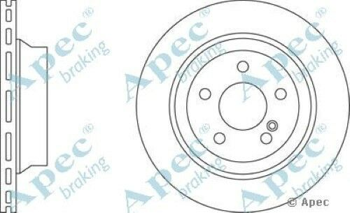 Pair 1x OE Quality Replacement Rear Axle Apec Vented Brake Disc 5 Stud 300mm