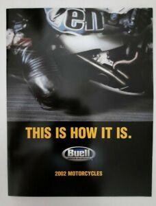 Vintage 2002 Buell Motorcycle Catalog Brochure Dealer Cyclone Lightning Blast