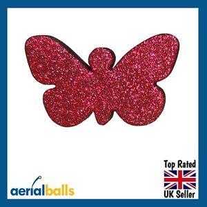 Red-Glitter-Butterfly-Car-Aerial-Antenna-Ball-Topper