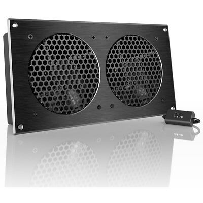 """AC Infinity AIRPLATE S7 12"""" Dual Fan Assembly with Speed Control"""