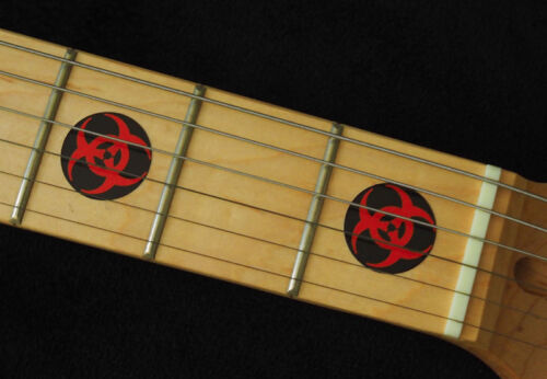 Biohazard Logo RED /& BLACK Fret Markers Vinyl Inlay Stickers for BASS and GUITAR