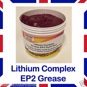 Details about Red Lithium Complex EP 2 Multi Purpose Grease 500g Tub x 1  EP2 Grease