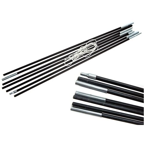 Tent Pole Kits 11mm x 7.75m Pre-Threaded replacement poles 9 Sections
