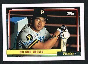 Orlando-Merced-637-signed-autograph-auto-1992-Topps-Baseball-Trading-Card