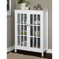 Buy Tall White 50curio China Display Storage Cabinet Buffet Glass