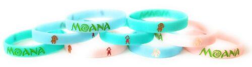 GLOW IN THE DARK 9 pack MOANA Bracelets Kids Birthday Party Favors