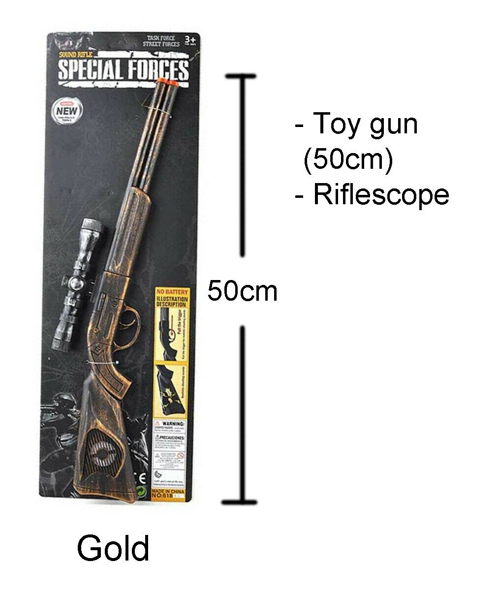 Sound Rifle Safari Jungle Cowboy Sheriff Gun Costume Accessory Western Sniper