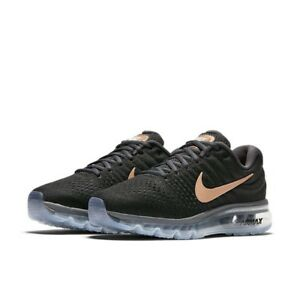abd0d64f74abe7 Nike Air Max 2017 Running Shoes Black Red Bronze 849560-008 Women s ...
