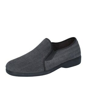 Scarpe-da-uomo-Pregunta-45-UE-Pantofole-Grigio-Tessile-bs786-45