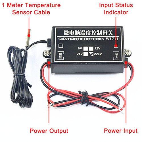 DC 5 V W1711 Micro-Ordinateur de contrôle de température réglable de commutation Thermostat T