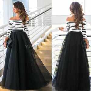 Vestidos de faldas largas y blusas