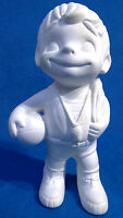 Vintage Atlantic Mold Plaster Basketball Boy Figure Ready To Paint Unpainted
