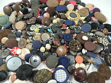 Large Lot VINTAGE BUTTONS~CROCHET FABRIC LEATHER & MORE~MIXED SIZES SHAPES COLOR