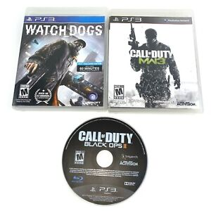 Lot-of-3-Playstation-3-PS3-Games-Call-Of-Duty-Black-Ops-2-II-MW3-amp-Watchdogs