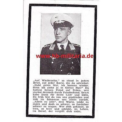 Sterbebild DK in Gold Träger der Luftwaffe aus Koblenz-Neuendorf