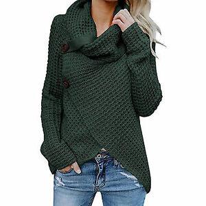 Women-039-s-Knitted-Sweater-Jumper-Cardigan-Knitwear-Outwear-Tops-green-Size-S-7