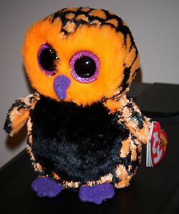 "Ty Beanie Boos ~ HAUNT the 6"" Halloween Owl ~ MINT with MINT TAGS"