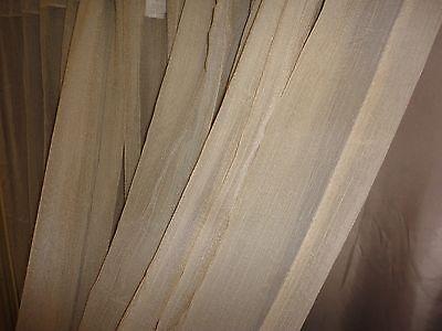 CROSCILL RICE PAPER SEMI SHEER CHAMPAGNE/GOLDCRINKLED (PAIR) PANELS 43 X 84