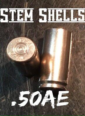 """2 /""""STEM SHELLS®/"""" Brand .44 Mag BRASS Bullet Shell Valve Stem Caps"""