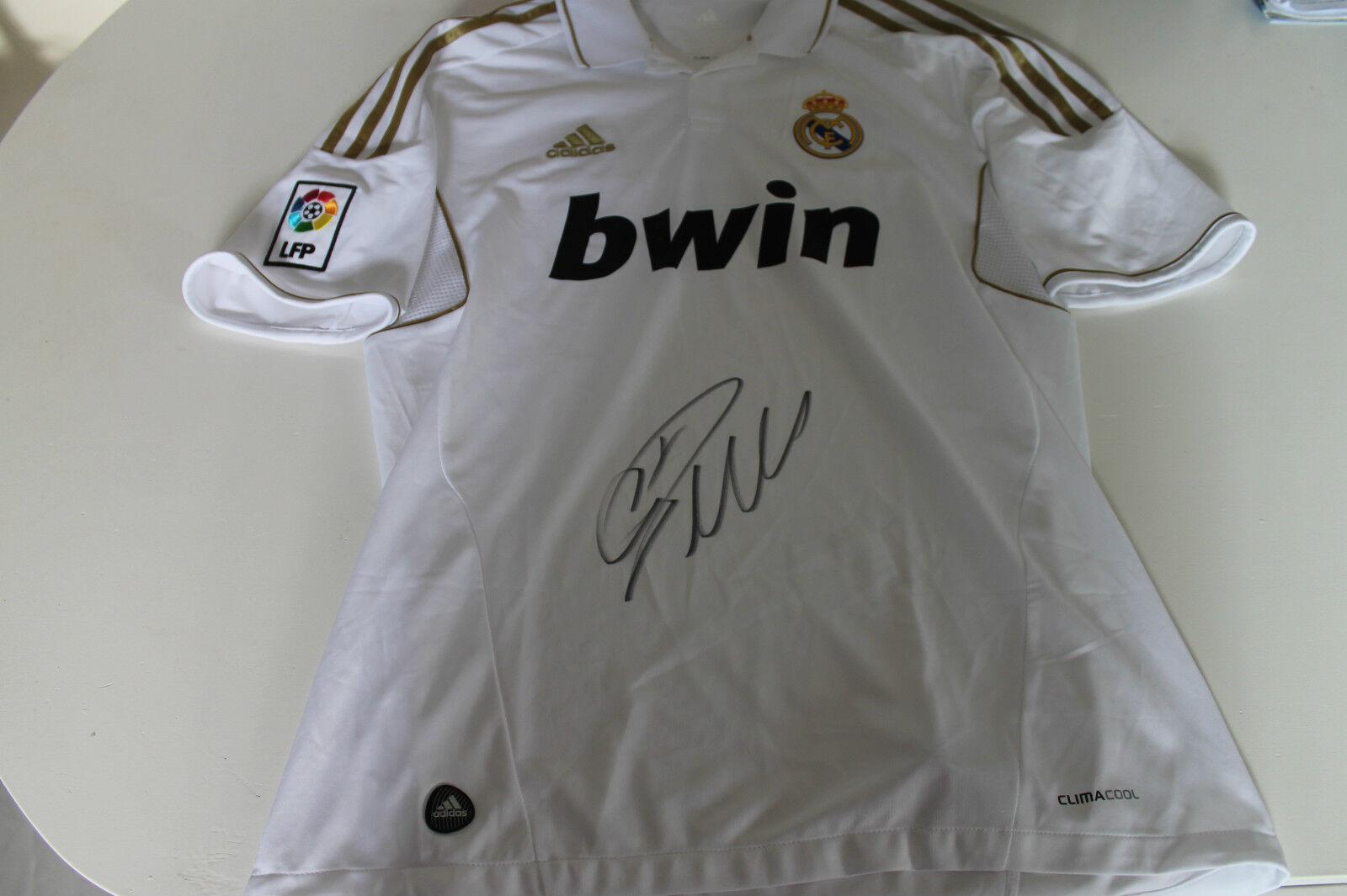 Real Madrid-Cristiano Ronaldo mano firmado Jersey Sin Enmarcar-longitud completa Auto