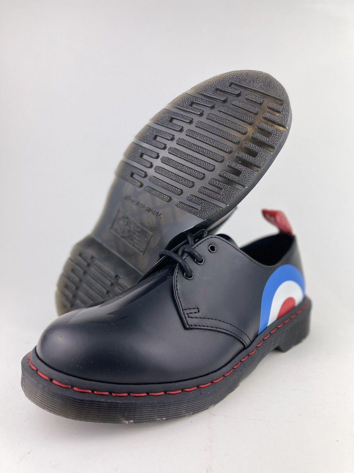 Dr Martens The Who Smooth Leather Platform Mens Shoes SZ 9 Black Target New 1461