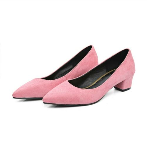 Femme 8 Couleurs Confort Talon Bas Bout Pointu Chaussures Habillées 4.5-5cm D