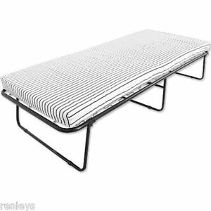 Folding Bed W Mattress Roll Away Guest Portable Sleeper Cot Pull Out Foam New Ebay