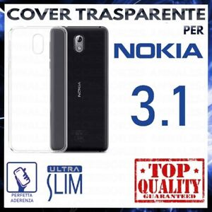 COVER-per-NOKIA-3-1-Custodia-Trasparente-Morbida-in-Silicone-Ultra-Slim-TPU