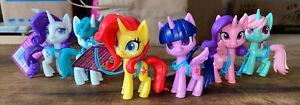 "MLP My Little Pony 2020 PVC Action Figure Lot Of 6 Htf Set Vintage Doll 4"""