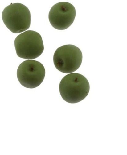 Dollhouse Miniatures 1:12 Scale Green Apples 6Pc #IM65506