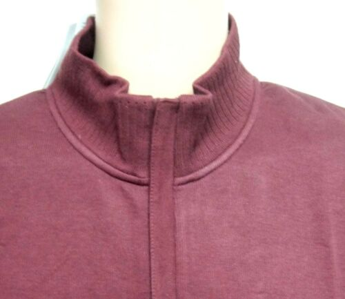 CUTTER /& BUCK Mens Half Zip JUMPER Sport Pullover Sweater Jumper WINE Fine Knit