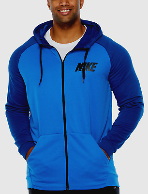 3XL Light Photo Blue New! NIKE Dri-Fit Thermal Hoodie Long Sleeve Full Zip