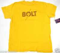 Lightning Bolt T Shirt Logo T Golden Rod 100% Cotton Retro Styled Made In Usa