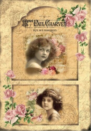 Decoupage-Bastelpapier-Softpapier-Vintage-Shabby-Vintage Girls-12783