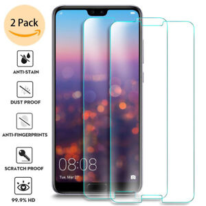 For-Huawei-P20-Pro-Lite-Screen-Protector-9H-Tempered-Glass-Film-Skin-Case-d6