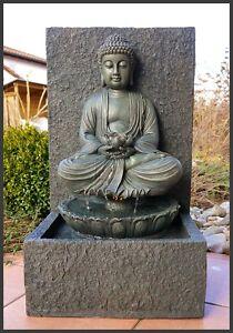 buddha brunnen zimmerbrunnen gartenbrunnen lotusbl te. Black Bedroom Furniture Sets. Home Design Ideas