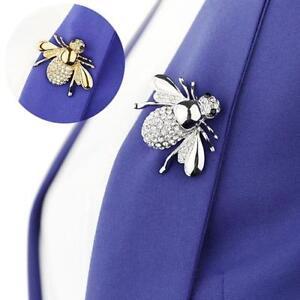 Stunning-Crystal-amp-Enamel-Honey-Bee-Brooch-Pin-Insect-Bug-Hat-Lapel-Pin-Badge