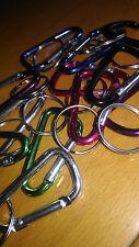 Un moschettone dritto 5 cms alluminio colori, portachiavi chiavi colore: casuale