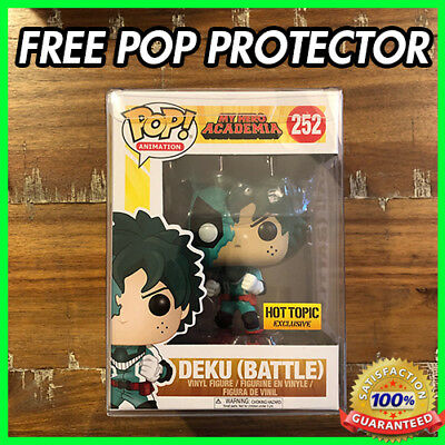 New Funko Pop My Hero Academia Battle Deku #252 Hot Topic Excl W// PROTECTOR!