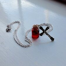 Halloween Necklace Vampire Blood Goth Zombie Cross party living dead