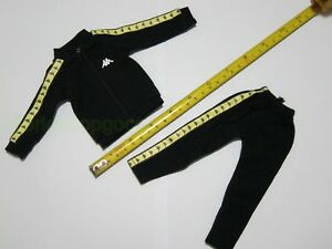 1-6-Scale-Black-Sportswear-Track-Suit-for-12-034-Action-Figure-Toys
