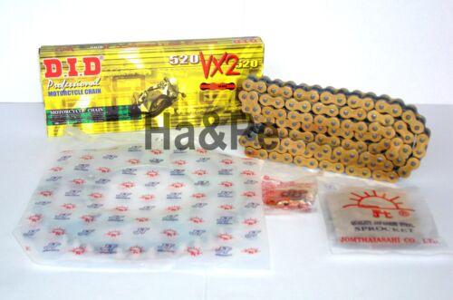 YAMAHA YZ 250 F DID kettensatz Chain Kit 520 vx2 g/&b Gold 2001