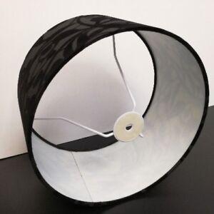 lampenschirm aus stoff in schwarz h he rund 30cm stehleuchte tischleuchte ebay. Black Bedroom Furniture Sets. Home Design Ideas