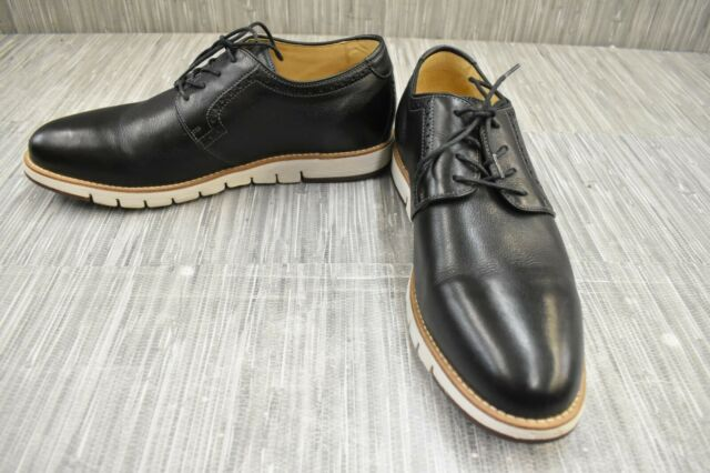 Johnston & Murphy Martell Plain Toe Dress Shoes, Men's Size 11.5M, Black