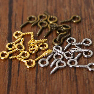 Nice wholesale small tiny mini eye pins screw eye hooks for S hooks for crafts